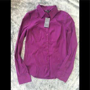 Armani Exchange A/X button up top blouse